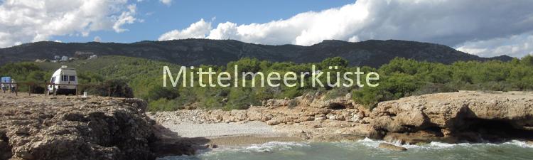 Vanlife Mittelmeerküste Brandung Natur frei stehen