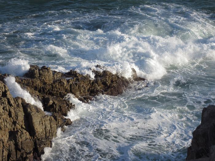 Brandung Meer Wellen Felsen