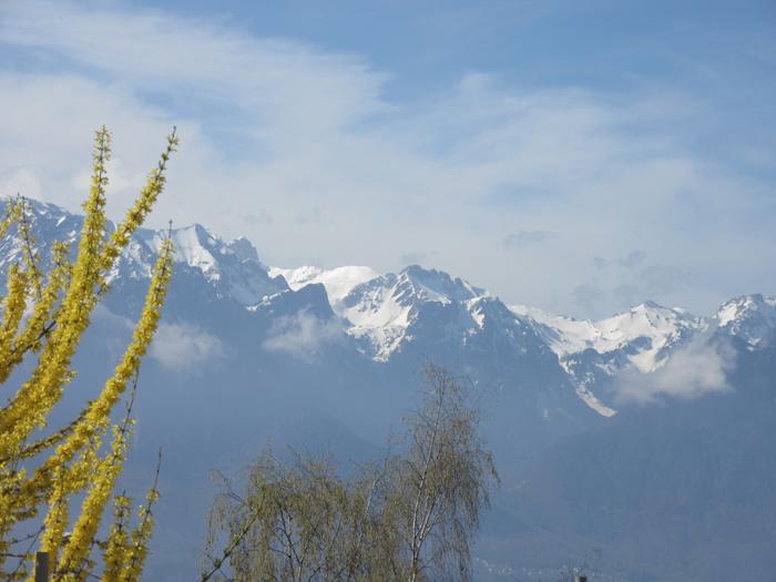 Lausanne See Gipfel Berge Schnee