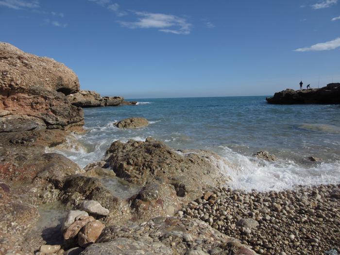 Brandung Wellen Steine Valencia