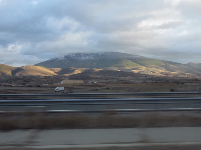 Spanien Landtsraße Berge Hochebene