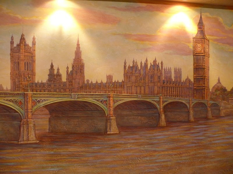 роспись стен  квартиры
