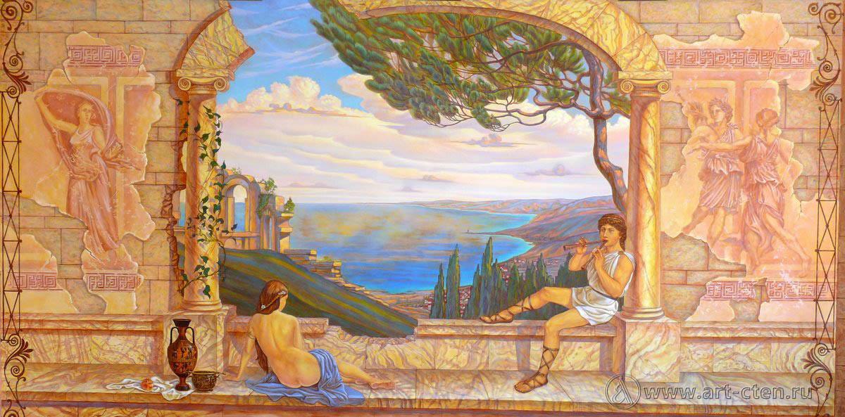 древнегреческие рисунки на стенах конечно, мультсериале том