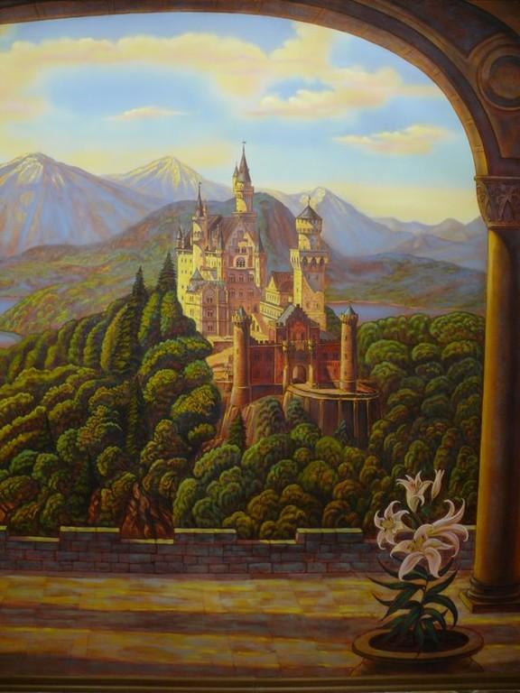 """роспись стен ресторана """"Старый замок"""""""
