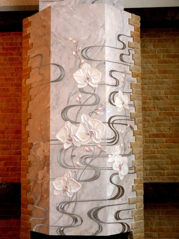 художественная роспись камина