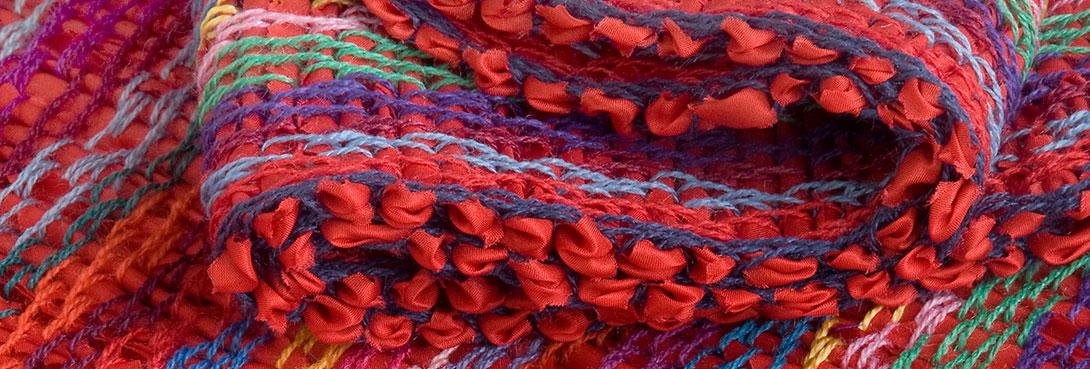 Schals aus Seidengarn, Mohair, Wolle und Leinen