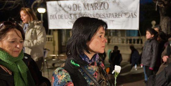 Ruth Ortiz, madre de los niños desaparecidos en Córdoba, en el acto de homenaje organizado por InterSOS / TEJEDERAS