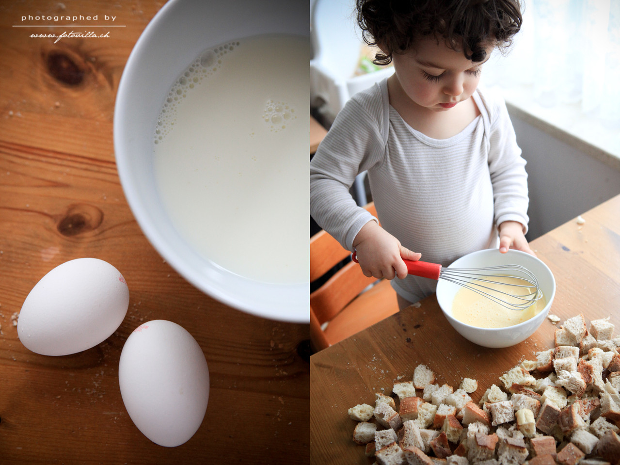 Ein Schluck Milch und ein paar Eier verquirrlen