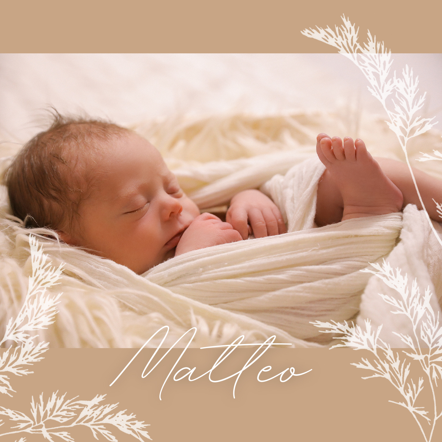 Newborn Baby Foto Shooting und Geburtskarte Bern