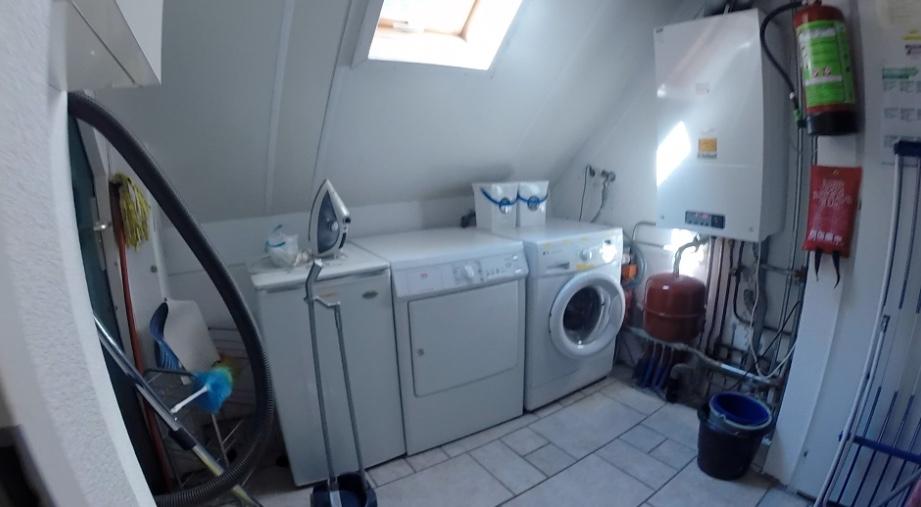 berging met wasmachine & droger
