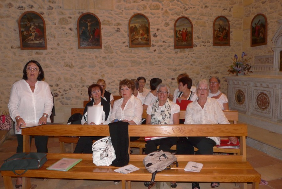 Quelques chanteuses de la chorale Lanton-Italia