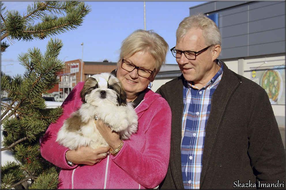 Meeting with the Carola Lassie Andersson and her husband in Kemijärvi, Finland. male SKAZKA IMANDRI TSARSKII DAR new family)))