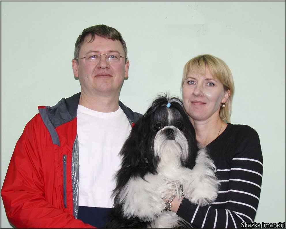 Захар с родителями