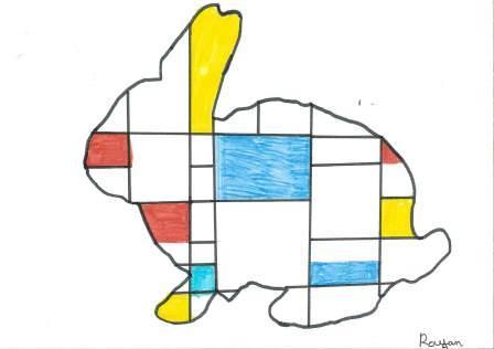 à la manière de Mondrian par Rayan