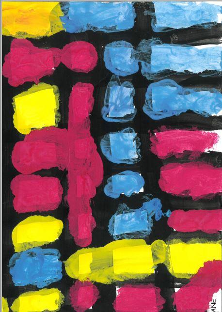 Travail autour des lignes verticales et horizontales : à la manière de Mondrian