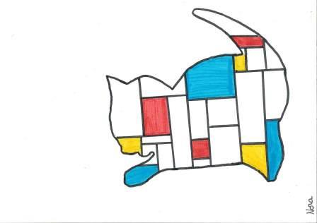 à la manière de Mondrian par Nora