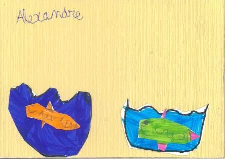 poissons à la manière de Clémence G. par Alexandre