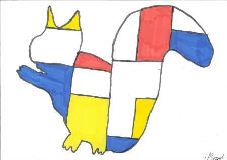à la manière de Mondrian par Margot