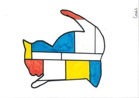 à la manière de Mondrian par Louis