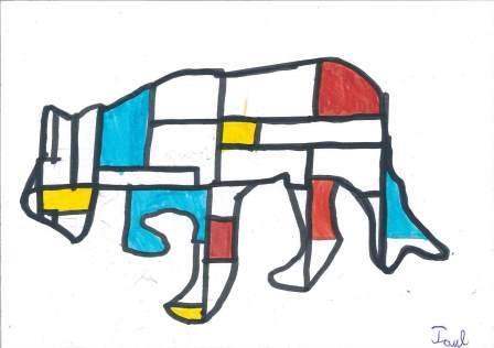 à la manière de Mondrian par Paul