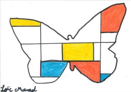 à la manière de Mondrian par Loïc