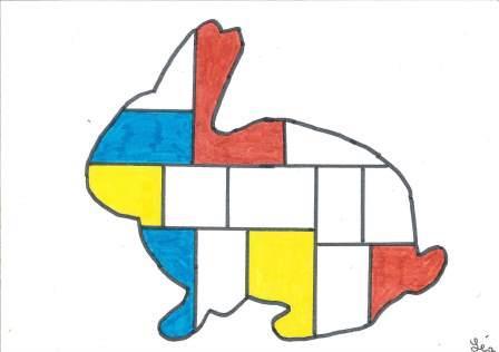 à la manière de Mondrian par Léa