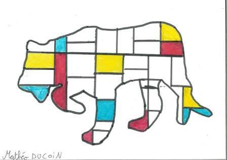 à la manière de Mondrian par Mathéo Dc