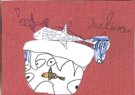 poissons à la manière de Clémence G. par Selivan