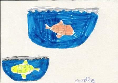 poissons à la manière de Clémence G. par Axelle