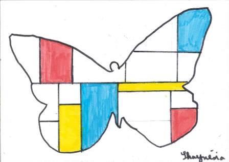 à la manière de Mondrian par Shaynésia