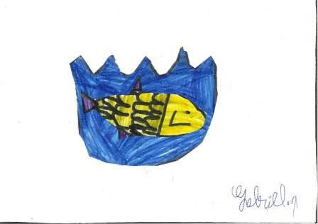 poissons à la manière de Clémence G. par Gabriel