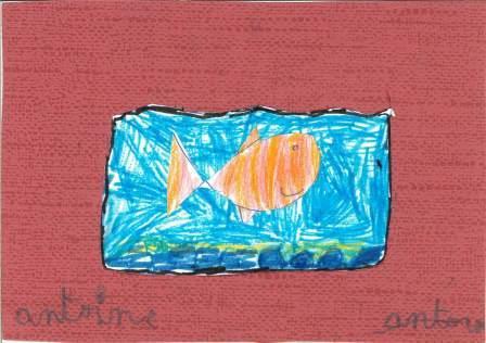 poissons à la manière de Clémence G. par Antoine L.