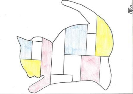 à la manière de Mondrian par Alba