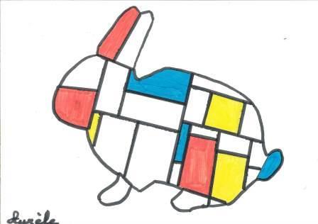 à la manière de Mondrian par Aurèle