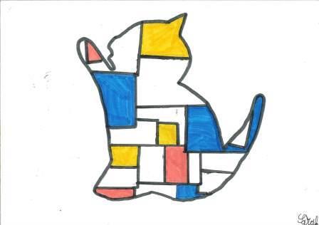 à la manière de Mondrian par Sarah
