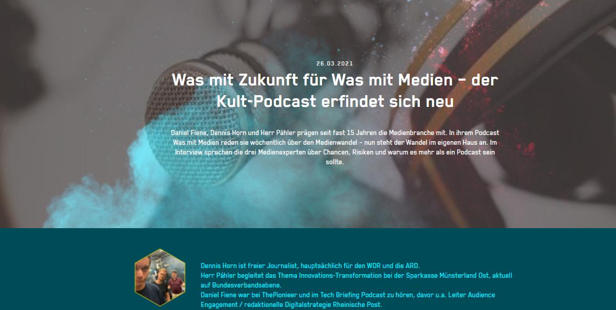 Was mit Zukunft für Was mit Medien – der Kult-Podcast erfindet sich neu
