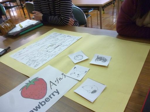 会議では、くじ引きでのグループ編成を行ったり、マンガのキャラクターカードを用意したり、和やかに話せるよう工夫