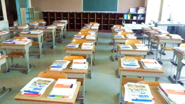 【写真1】密閉・密集・密接の重なりに留意した教室環境