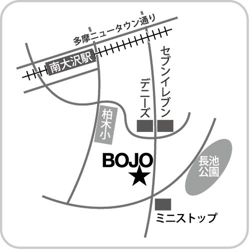 「カフェギャラリーBOJO」へのアクセスマップ