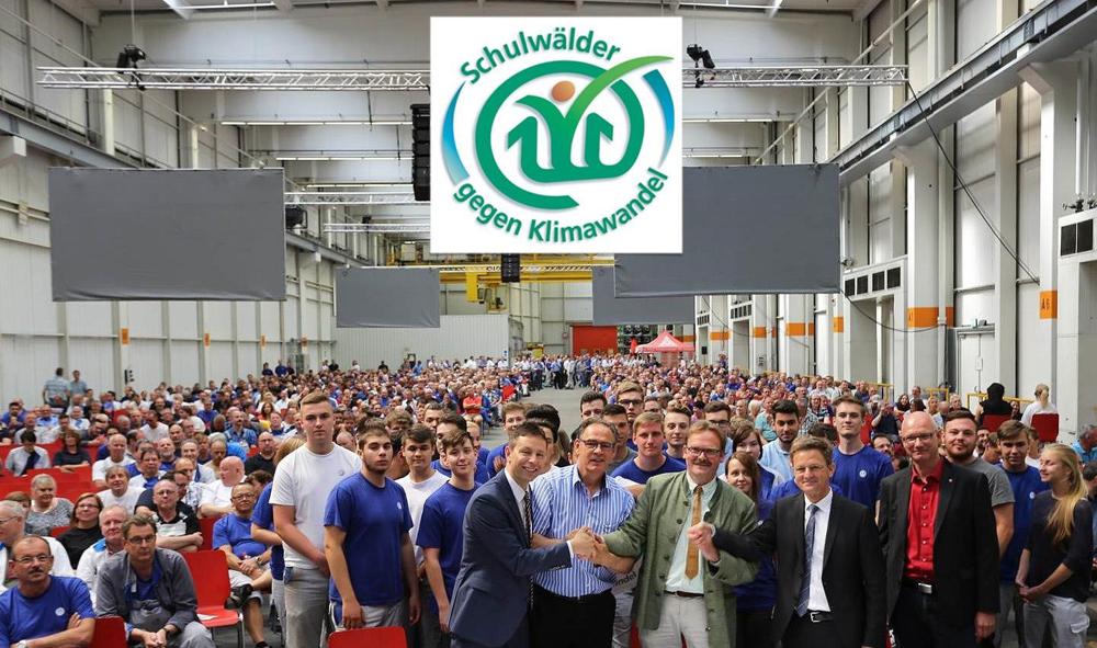 Rückblick: Feierliche Vertragsunterzeichnung der Kooperationspartner 2017 im VW-Werk-Salzgitter