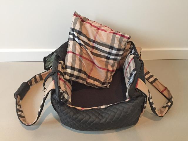 Hunde-Flugzeugtasche mit herausnehmbaren Kissen