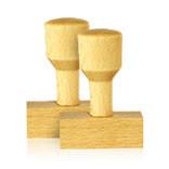 Traditioneller Holzstempel aus deutschem Buchenholz, extrem langlebig