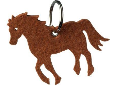 Wollfilz Schlüssellanhänger Pferd