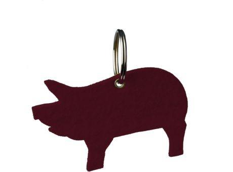 Wollfilz Schlüssellanhänger Schwein