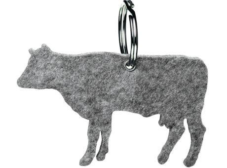 Wollfilz Schlüssellanhänger Kuh