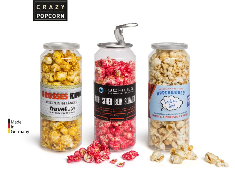 Crazy Popcorn in der großen Dose