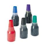 Stempelfarben für alle Anwendungen (auf Stoff, Glas, Metall, Beton, Lebensmittel usw.), auch schnelltrocknend, pigmentiert usw.