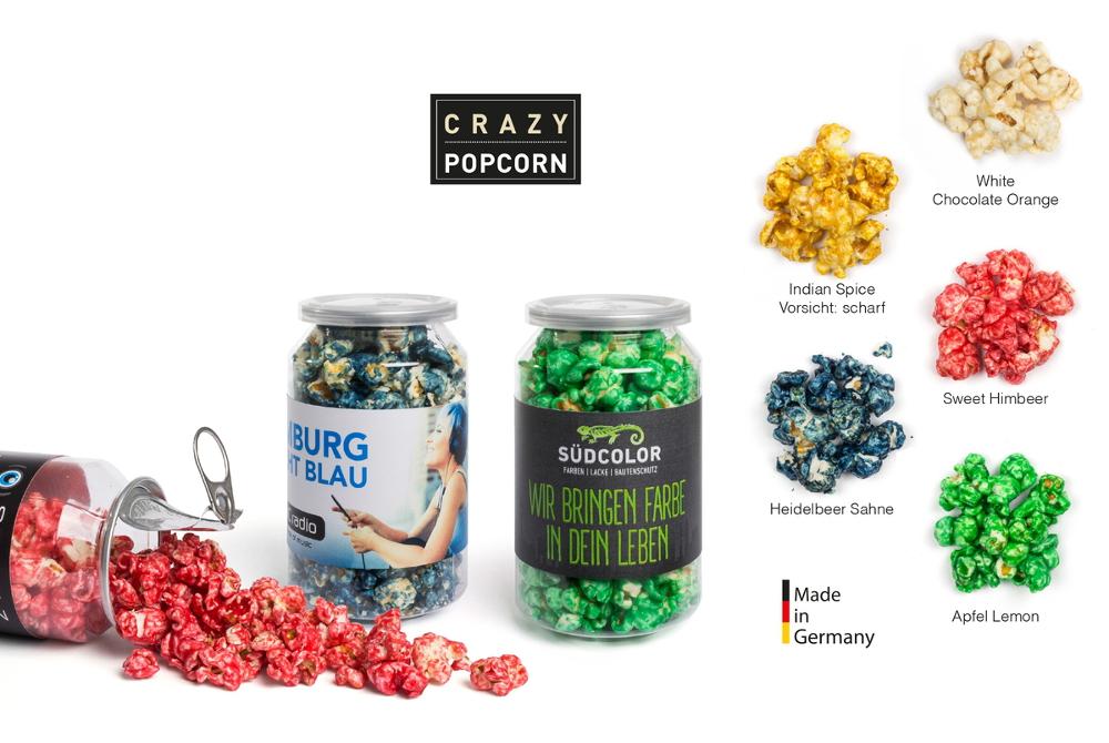 Crazy Popcorn in der kleinen Dose