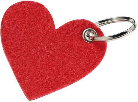 Wollfilz Schlüssellanhänger Herz