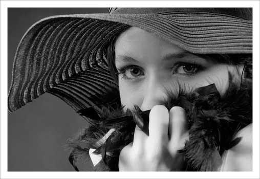 Demoiselle au chapeau de Jacques Jourdain